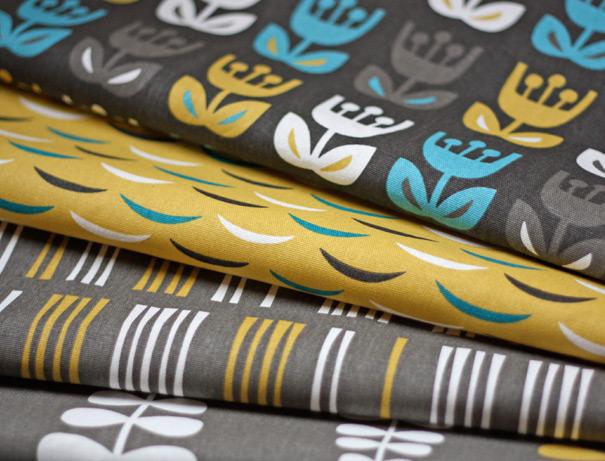 Outside Oslo fabric by Jessica Jones