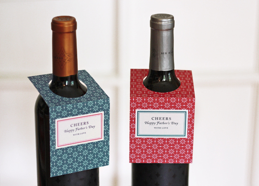 Father's Day wine bottle tags
