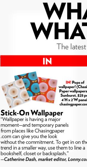 Stick-on wallpaper
