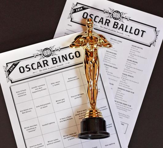 free 2014 Oscars bingo cards