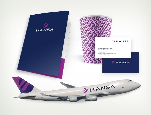 Hansa airline branding