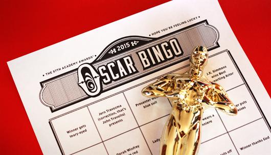 Free Oscar bingo game 2015