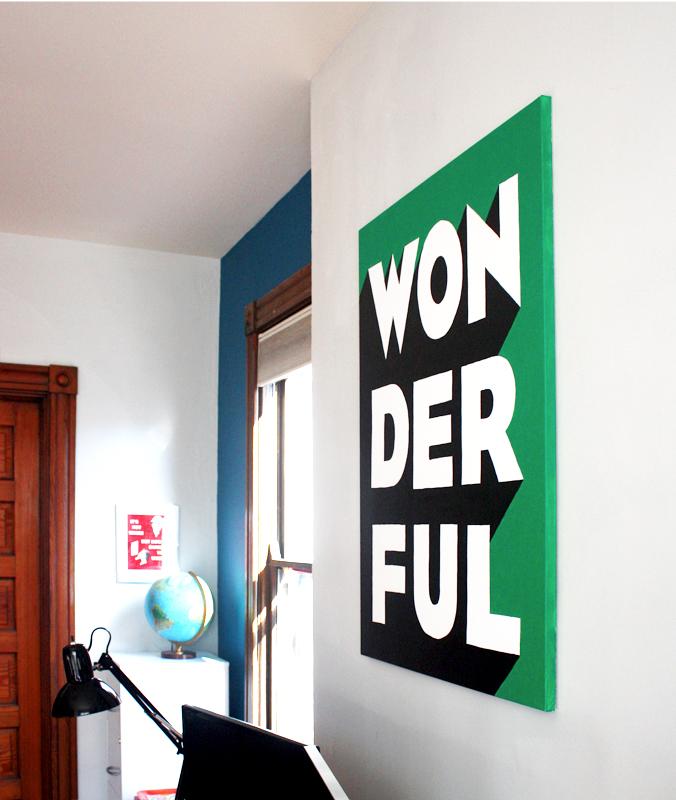 Typographic wall art tutorial