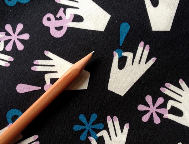 Specimen hands type fabric