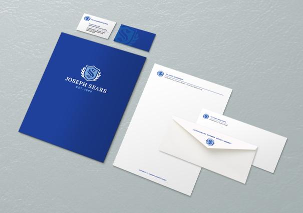 School letterhead business cards