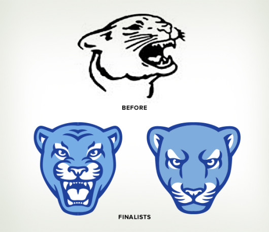 Mascot design before after