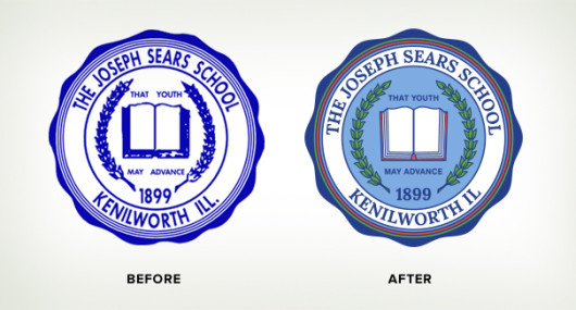 School seal before after