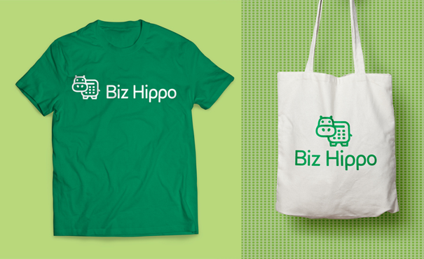 Biz Hippo logo merchandise