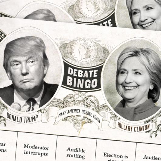 2016 presidential third debate bingo