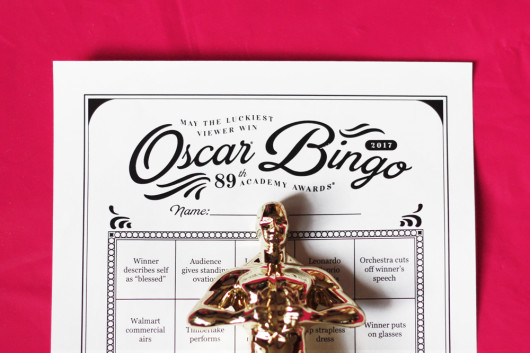 2017 Oscar Bingo free party game
