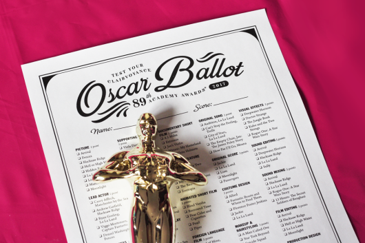 2017 Oscar ballot printable PDF
